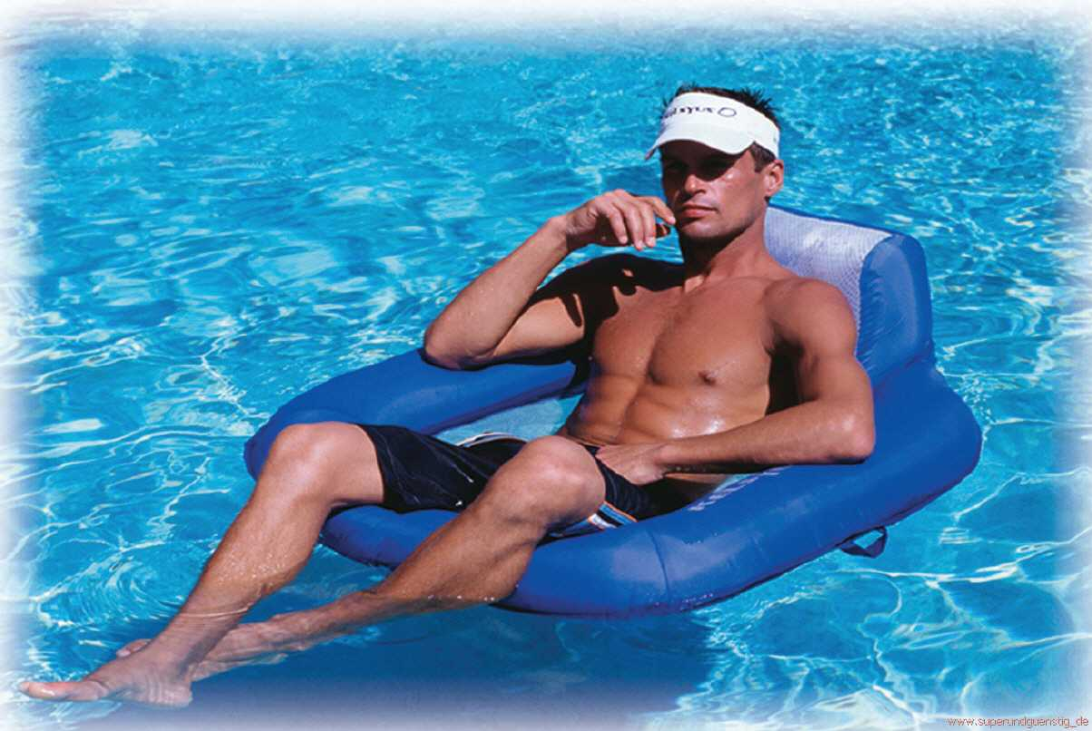 "WASSERSESSEL ""FLOATING LOUNGER BLUE"" VON KELSYUS"